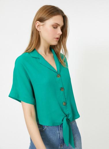 Koton V Yaka Gömlek Yeşil